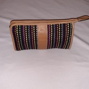 Fendi Authentic vintage rainbow woven cosmetic bag